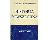Szczegóły książki HISTORIA POWSZECHNA - WIEK XVIII