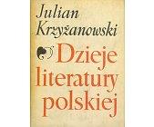 Szczegóły książki DZIEJE LITERATURY POLSKIEJ