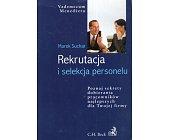 Szczegóły książki REKRUTACJA I SELEKCJA PERSONELU