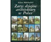 Szczegóły książki ZARYS DZIEJÓW ARCHITEKTURY W POLSCE