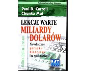Szczegóły książki LEKCJE WARTE MILIARDY DOLARÓW