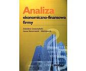 Szczegóły książki ANALIZA EKONOMICZNO - FINANSOWA FIRMY