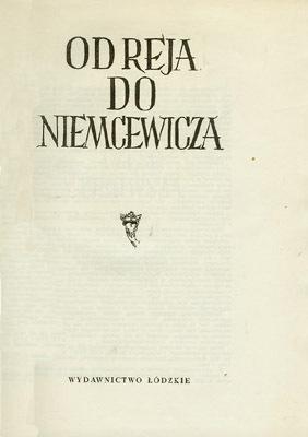 KSIĘGI HUMORU POLSKIEGO - OD REJA DO NIEMCEWICZA