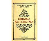 Szczegóły książki OBRONA AUTORSTWA
