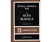 Szczegóły książki MUSICA ANTIQUA - TOM XIII - VOL 2. ACTA SALVICA
