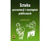 Szczegóły książki SZTUKA PREZENTACJI I WYSTĄPIEŃ PUBLICZNYCH