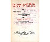 Szczegóły książki KATALOG ZABYTKÓW SZTUKI W POLSCE - TOM 6, ZESZYT 9
