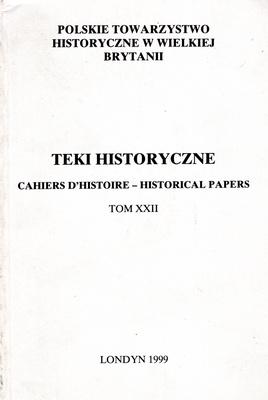 TEKI HISTORYCZNE - TOM XXII