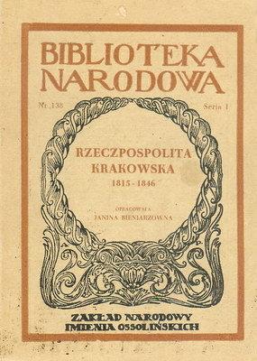 RZECZPOSPOLITA KRAKOWSKA 1815-1846