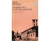 Szczegóły książki WARSZAWA NATURALISTÓW