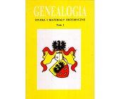 Szczegóły książki GENEALOGIA - TOM 2