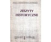 Szczegóły książki ZESZYTY HISTORYCZNE (89)