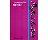 Szczegóły książki HUSSERL