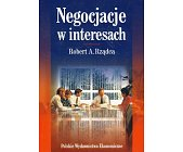 Szczegóły książki NEGOCJACJE W INTERESACH