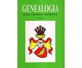 Szczegóły książki GENEALOGIA - TOM 3