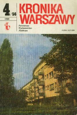 KRONIKA WARSZAWY 4/56 - 1983