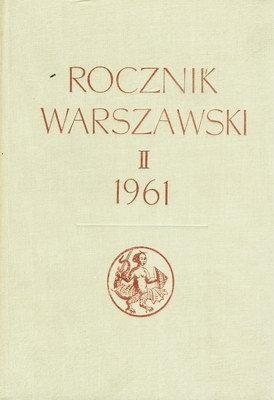 ROCZNIK WARSZAWSKI II 1961
