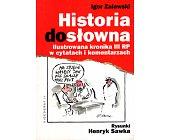 Szczegóły książki HISTORIA DOSŁOWNA