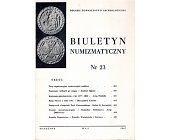 Szczegóły książki BIULETYN NUMIZMATYCZNY NR 23