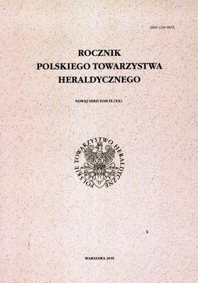 ROCZNIK POLSKIEGO TOWARZYSTWA HERALDYCZNEGO - TOM IX