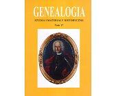 Szczegóły książki GENEALOGIA - TOM 17