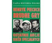 Szczegóły książki BRUDNE GRY