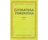 Szczegóły książki LITERATURA STARORUSKA