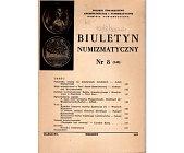 Szczegóły książki BIULETYN NUMIZMATYCZNY NR 8 (148)