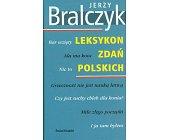 Szczegóły książki LEKSYKON ZDAŃ POLSKICH