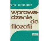Szczegóły książki WPROWADZENIE DO FILOZOFII