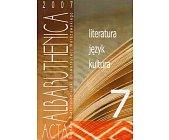 Szczegóły książki ACTA ALBARUTHENICA 7