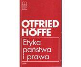 Szczegóły książki ETYKA PAŃSTWA I PRAWA
