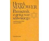 Szczegóły książki PAMIĘTNIK Z GETTA WARSZAWSKIEGO ...