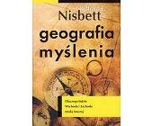 Szczegóły książki GEOGRAFIA MYŚLENIA