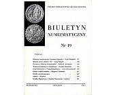 Szczegóły książki BIULETYN NUMIZMATYCZNY NR 19