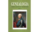 Szczegóły książki GENEALOGIA - TOM 15
