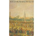 Szczegóły książki ROCZNIK WARSZAWSKI XV