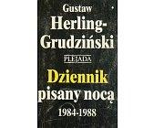 Szczegóły książki DZIENNIK PISANY NOCĄ 1984-1988 - 2 TOMY