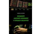 Szczegóły książki MECHANIZMY CORPORATE GOVERNANCE W SPÓŁKACH GIEŁDOWYCH