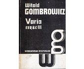 Szczegóły książki VARIA. CZĘŚĆ III