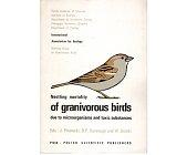Szczegóły książki NESTLING MORTALITY OF GRANIVOROUS BIRDS
