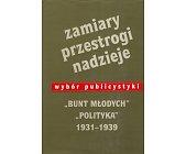 Szczegóły książki ZAMIARY, PRZESTROGI, NADZIEJE - WYBÓR PUBLICYSTYKI