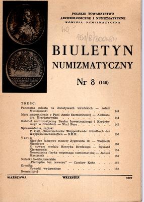 BIULETYN NUMIZMATYCZNY NR 8 (148)