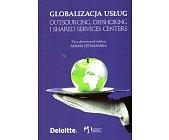 Szczegóły książki GLOBALIZACJA USŁUG