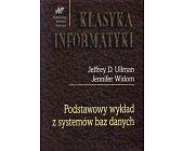Szczegóły książki PODSTAWOWY WYKŁAD Z SYSTEMÓW BAZ DANYCH