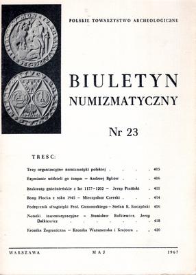 BIULETYN NUMIZMATYCZNY NR 23