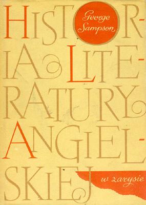 HISTORIA LITERATURY ANGIELSKIEJ W ZARYSIE