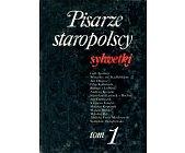 Szczegóły książki PISARZE STAROPOLSCY - SYLWETKI - 2 TOMY