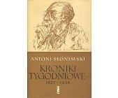 Szczegóły książki KRONIKI TYGODNIOWE 1927 - 1939
