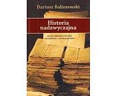 Szczegóły książki HISTORIA NADZWYCZAJNA